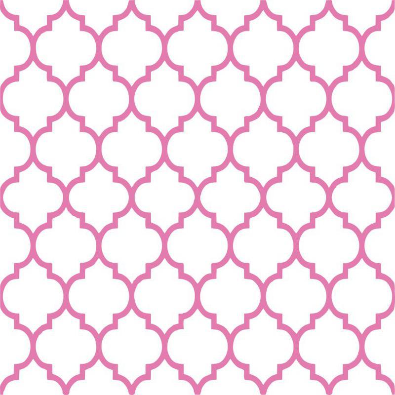 Pink Moroccan Lantern Pattern